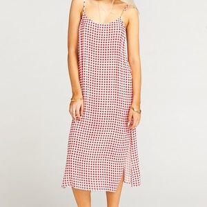 Show Me Your Mumu Shiloh Cherry Slip Dress